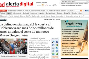 Alerta Digital: La delincuencia magrebí le cuesta al Gobierno vasco más de 60 millones de euros anuales, el coste de un nuevo Museo Guggenheim