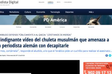 Periodista Digital: El indignante vídeo del chuleta musulmán que amenaza a un periodista alemán con decapitarle