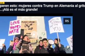 Periodista Digital: Superen esto: mujeres contra Trump en Alemania al grito de...¡Alá es el más grande!