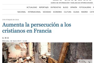 La Gaceta: Aumenta la persecución a los cristianos en Francia