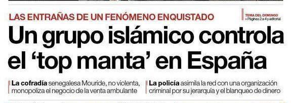 Un grupo islámico controla el 'top manta' en España