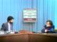 Joaquim Maria Puyal entrevista Xavier Vinader, exiliat a França, a TVE. Imatge: TVE.