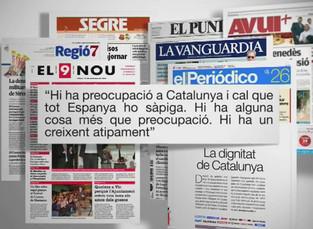 Editorial conjunta de diversos diaris catalans. Foto: El9Nou