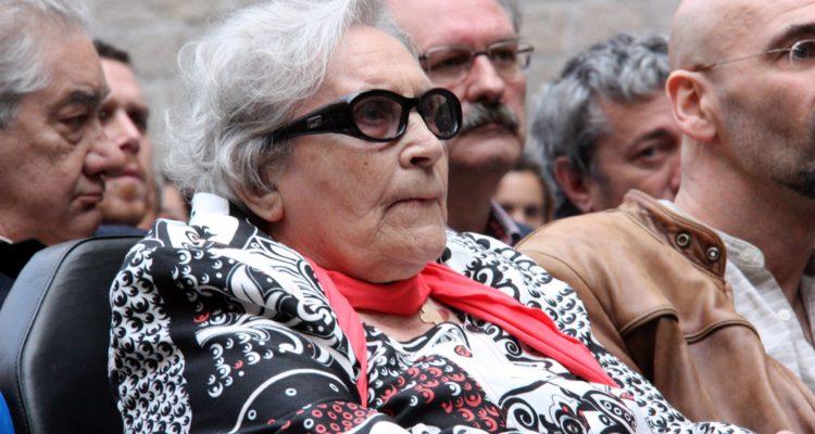 Neus Català, supervivent catalana del camp de concentració nazi de Ravensbrück, que va morir dissabte, en una imatge de l'any 2010. Foto: ACN.