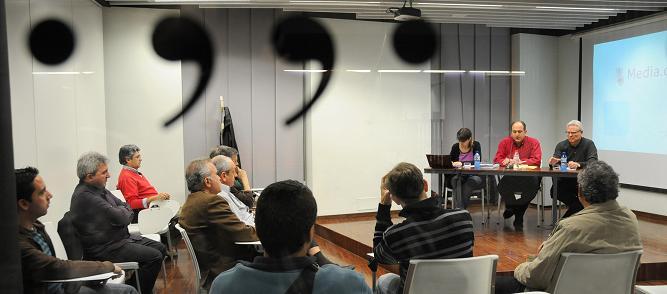 Presentació a València de l'informe de Media.cat sobre la TDT local. Foto: PRATS i CAMPS