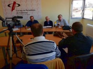 Presentació a Lleida de l'informe sobre les consultes sobiranistes. FOTO: Media.cat