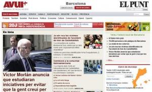 Nova web conjunta de l'Avui i El Punt
