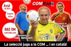 Publicitat de COM Ràdio dels partits de la selecció espanyola