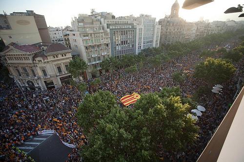Imatge aèria de la manifestació del 10 de juliol de 2010. Autor: David Datzira