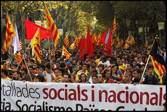Manifestació de la Diada, l'11 de setembre de 2010. Foto: Oriol Clavera.