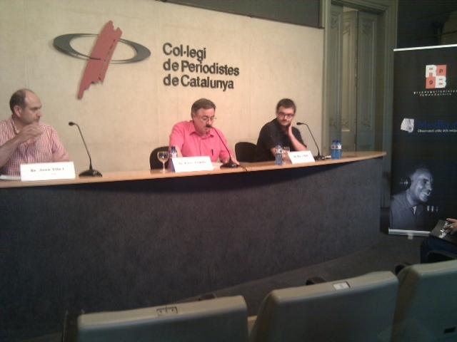 Presentació de l'Anuari al Col·legi de Periodistes.
