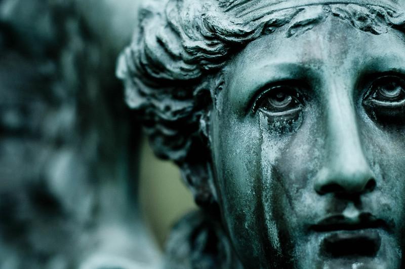tristesa estàtua