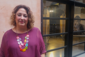 Virginia Pérez Alonso, presidenta de la PDLI i codirectora de 'Público', aquest setembre a Barcelona. Foto: Susana Pérez Soler.