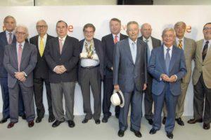 RTVE va reunir tots els presidents i directors generals de la seva història l'any 2016, en motiu del seu 60è aniversari. Foto: RTVE.