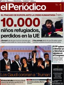 PeriodicoCatalunya1-2-16 10.000 refugiats