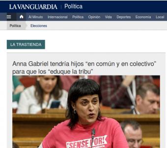 lavanguardiaAG 340x300 - Anna Gabriel i el còctel explosiu del 'clickbait' i els prejudicis ideològics
