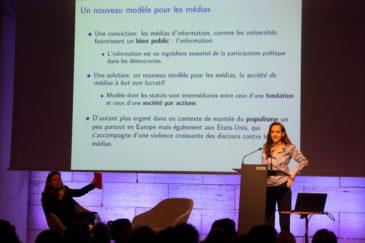 La directora de l'Ara, Esther Vera, va presentar l'acte.