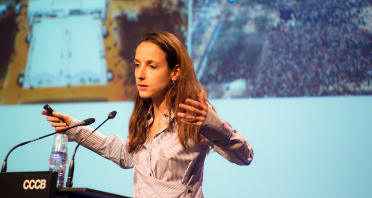 L'economista francesa Julia Cagé al CCCB.