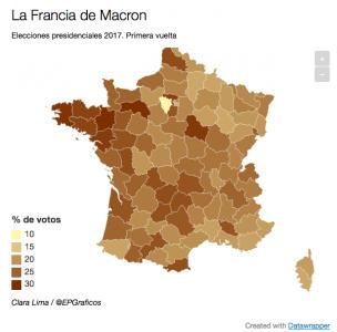 Mapa eleccions franceses El Periódico