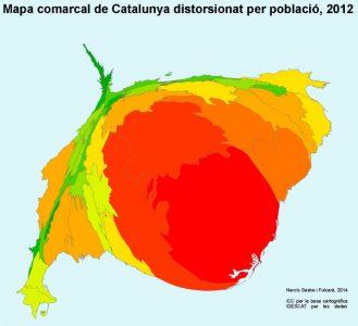 Mapa distorsionat, de Cercle Gerrymandering.