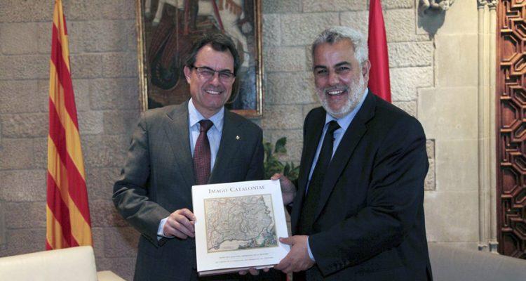 Reunió d'Artur Mas amb el cap del Govern del Marroc.