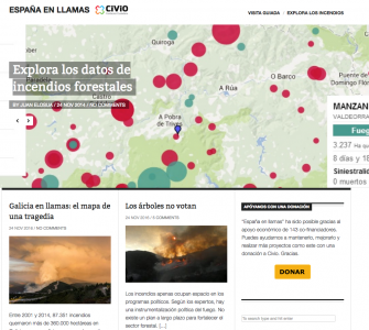 """""""España en llamas"""", projecte de la Fundació Civio."""