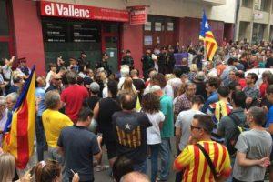 La Guàrdia Civil registra la redacció del Vallenc.