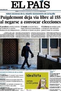 Portada d'El País