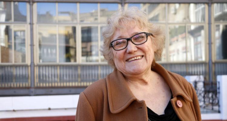 L'escriptora valenciana Isabel-Clara Simó el dia que va ser distingida amb el Premi d'Honor de les Lletres Catalanes, el 17 de gener del 2017. Foto: Pau Cortina / ACN.