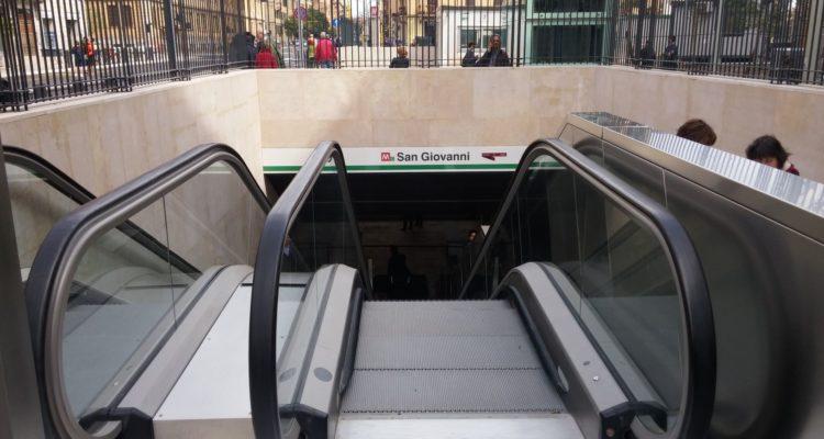 L'estació de metro de San Giovanni, a Roma, l'abril de 2017. Foto: Flavio Artegiani.