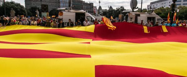 Manifestació espanyolista a Barcelona. Foto: Jordi Borràs.