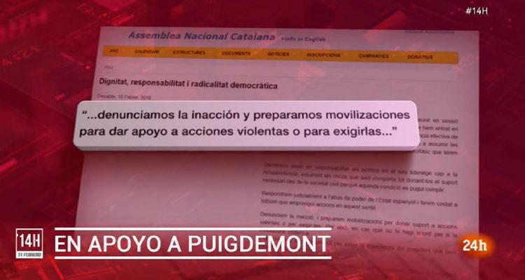 """TVE va traduir """"accions valentes"""" per """"acciones violentas""""."""