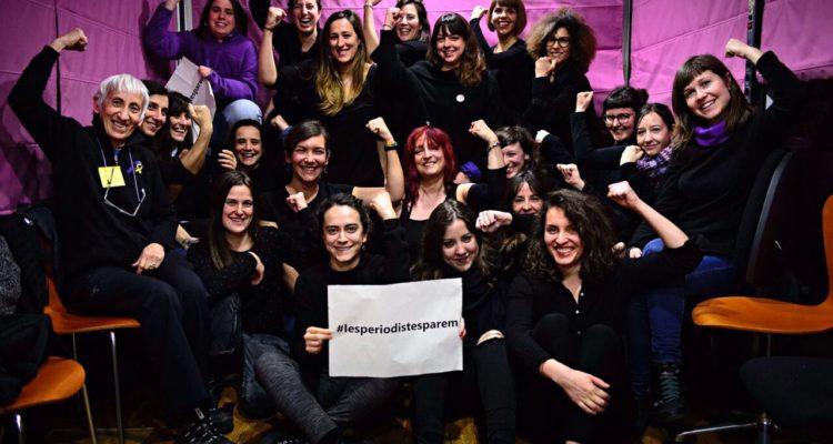 Les periodistes fem vaga. Foto: Roser Vilallonga.