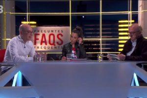 Entrevista amb Oriol Soler i Jaume Roures al programa Preguntes Freqüents de TV3.