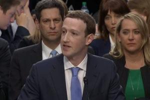 Mark Zuckerberg declara davant del Senat dels EUA.