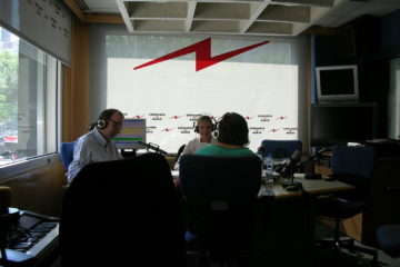 Antoni Bassas a Catalunya Ràdio. Foto: Josep Renalias.