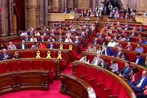 Ple del Parlament del passat dissabte 12 de maig. Foto: Parlament de Catalunya.