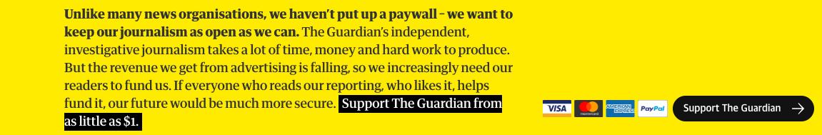 El diari britànic 'Guardian' demana aportacions als seus lectors a peu de notícia.