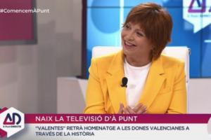 La directora d'À Punt Mèdia, Empar Marco, en la seva primera aparició a la televisió valenciana.