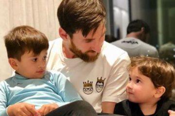 El mes de març va ser notícia el naixement del tercer fill de Messi. A la foto amb els dos grans, Thiago i Mateo. Foto: Instagram @leomessi