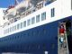 El creuer 'Pearl II', el primer que atraca enguany al port de Tarragona. Foto: Núria Torres / ACN