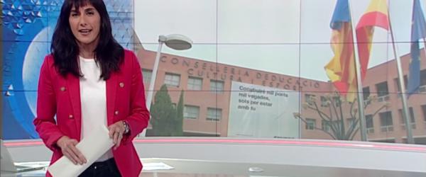 Victòria Maso presenta l'Informatiu Nit d'À Punt Mèdia, el 18 de juliol de 2018. Imatge: À Punt Mèdia.