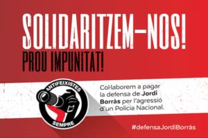 Imatge de la campanya #defensaJordiBorràs per recollir diners per la defensa del fotoperiodista. Imatge: Jordi Calvís.