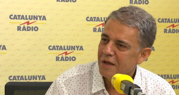 """Joaquim Maria Puyal, entrevistat a """"El Matí de Catalunya Ràdio"""" el 5 de juliol de 2018, després d'anunciar que deixaria de retransmetre els partits del Barça a l'emissora pública. Foto: CCMA."""