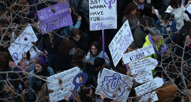 Manifestació feminista a Barcelona el 8 de març de 2018. Foto: ACN / Gemma Sánchez