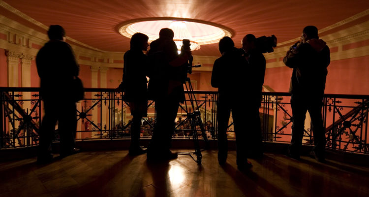 Diversos mitjans cobreixen l'Animac, el Festival de Cinema d'Animació, a Lleida. Foto: Carlos Cazurro / Wikimedia Commons.