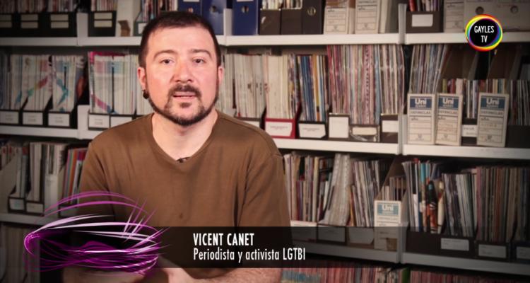El periodista Vicent Canet, en una entrevista a GaylesTV en relació a un informe a Mèdia.cat sobre el col·lectiu LGTBI.