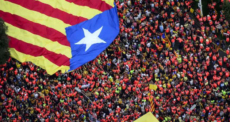 Manifestació de la Diada 2018 a la Diagonal de Barcelona. Foto: ACN / Roser Vilallonga.