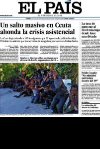 Portada d''El País' del 27 de juliol de 2018.