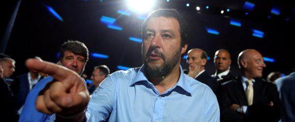 El ministre de l'Interior italià, Matteo Salvini, el mes de juny a Roma. Foto: Reuters / Tony Gentile.